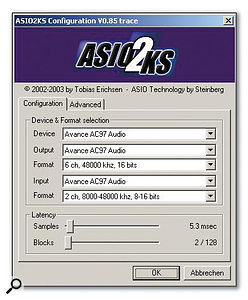 If your laptop soundchip is supported by the generic ASIO drivers provided by Asio2ks you may be able to achieve low latency while running Cubase SX or other ASIO applications.