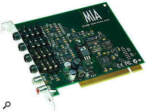 Some audio interface manufacturers, including Lynx and Echo, still offer Windows 98 drivers on their web site for older products such as the Lynx One and Mia shown here, but others don't, so always check driver availability before choosing an audio interface for an older PC.