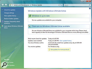 As its name suggests, Windows Update provides updates and bug fixes for Microsoft operating systems plus, in the latest version shown here for Vista Ultimate, optional content, software, services and tips. However, very few of the Hotfixes actually improve audio performance, and many are optional for musicians.