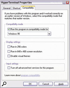 If you get any strange problems from an XP application with your mouse or keyboard, check that Compatibility Mode hasn't been accidentally engaged.