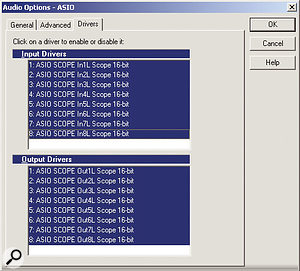 Enable the drivers that speak to your soundcard's I/O. If in doubt, just select them all, but be aware that de-selecting unused drivers frees up some of your computer's processing power.