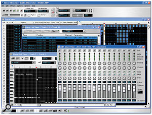 You can still buy MIDI-only software for the PC, such as Voyetra's Record Producer MIDI (shown here) which only requires a Pentium II 233MHz processor and 64MB of RAM when running under Windows 98SE.