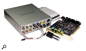 You'll need a spare soundcard input and output to construct an effects loop for connecting a hardware processor. Models such as this Terratec DMX6 Fire are ideal, as their rear surround outs can be used for this purpose if they're not being used for surround.