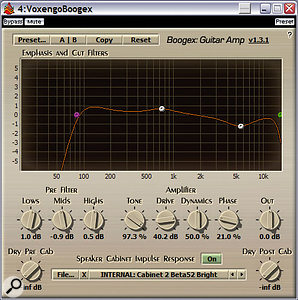 Convolution is now being used more and more to add realism to plug-ins. This is Voxengo's freeware Boogex guitar-amp simulator, which includes a selection of mic/amp/speaker impulse responses.