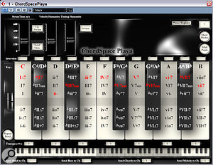 Chordspace Playa is an innovative real-time tool featuring user-defined chords, strums and arpeggios to break you out of your composing rut.