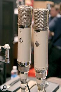 An original Telefunken ELA M 251 (right) alongside amore modern one made by Telefunken USA.