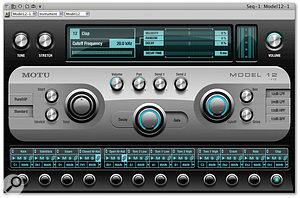 Model 12 samples can be saved individually to the relevant sample folder on your hard drive, via the pop-up menus associated with the instrument's 12 voice locations.
