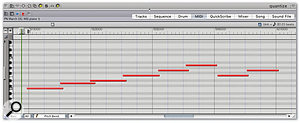 Using Quantising in Digital Performer