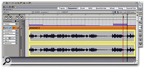 Adjust Beats is being used to align the bars and beats in DP's Conductor Track with the bars and beats of an audio recording that has variable tempo.