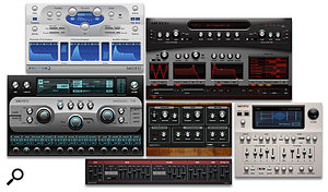 The six virtual instruments that will come bundled with every copy of Digital Performer 5, due for release very soon.