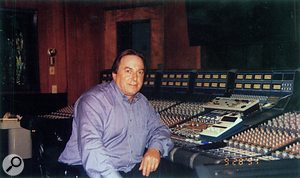 Phil Dudderidge seated at a Focusrite console in 1994.