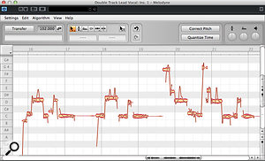 3a. Unless your DAW supports ARA plug-ins, you'll need to record the audio into your Melodyne plug-in. Only then will Melodyne display its note blobs and pitch curve ready for editing.