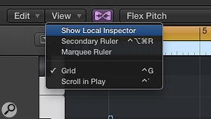 4b. Use Flex Pitch's Show Local Inspector option to see its full set of pitch-adjustment controls.
