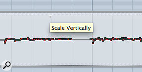5c. Usefully, Cubase offers the ability to 'scale' MIDI pitch-bend data.