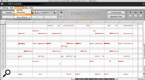 8a. Once tracked into Melodyne Editor, my piano part is analysed using this software's unique Polyphonic algorithm.
