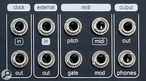 Pittsburgh Microvolt 3900 MIDI panel.