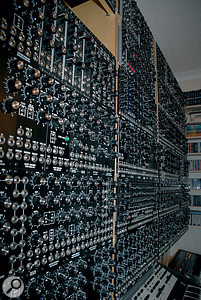 Just a small part of Lester Barnes' Fat Bastard system. This section comprises Synthesis Technology's MOTM modules.