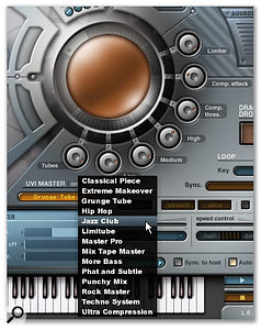 The UVI Master section includes some nice presets.