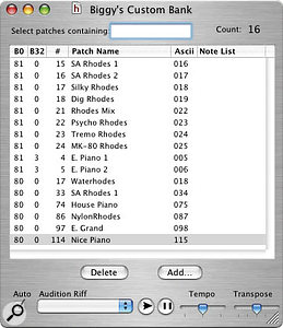 Creating your own patchlist banks in DP4 is virtually painless with Rob Martin's freeware CherryPicker.