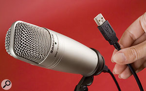 A USB mic such as Samson's C01U keeps things simple for spoken-word recording.
