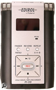 A portable digital recorder such as Edirol's new R09 can allow podcast creators to incorporate field recordings made at live events, gigs and so on, into their podcasts.