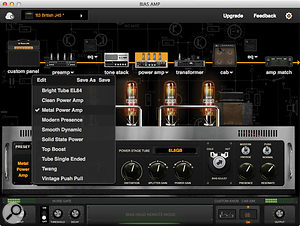 The power amp stage, like the others, offers a range of convincing presets, as well as supreme tweakability.