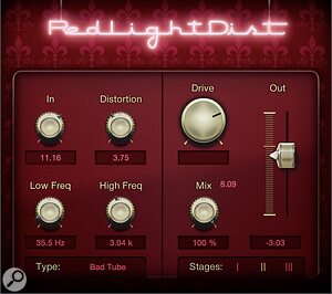 PreSonus Redlight Distortion plug-in.