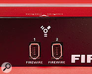 Like most Firewire interfaces, the Firepod provides an additional Firewire port for chaining further devices.