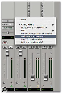 MIDI tracks can be routed to hardware devices, soft synths or modules in slaved Rewire applications.