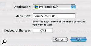 Pro Tools shortcuts.