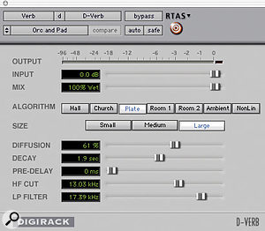 Figure 2: Orchestral & Pad patch settings.