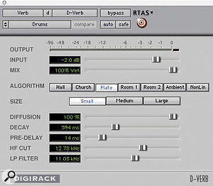 Figure 3: Drum patch settings.
