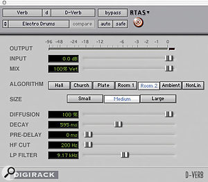Figure 6: Electro Drums patch settings