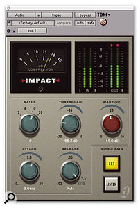 Digidesign's Impact mix-buss compressor is the first plug-in to take advantage of Accel's faster DSP chips.