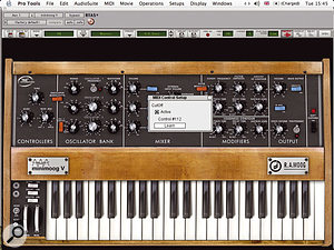 Arturia'a Minimoog RTAS plug-in has built-in MIDI controller learn capability: hopefully other developers will follow suit.