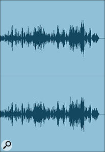 Screen 1A: a typical waveform from a mixed but unmastered track.