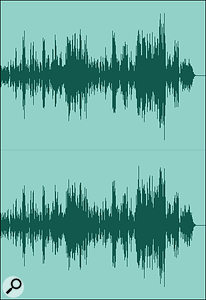 Screen 1B: the same waveform normalised to 0dBFS.