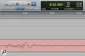Although waveform drawing with the pencil tool is undoable, it's possible to go beyond the number of levels of undo your system is set up to permit — making it destructive.