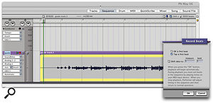 Here's the 'count-in' audio. You can clearly see the four-beat spoken count-in, followed by about six bars of chords. Using Record Beats, with its 'Tap is first beat' option, you only have to tap a MIDI controller in time while the audio plays back, to give it an accurate Conductor Track tempo map.