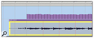 In this screen, I've selected all and dragged the first part of the 'chords' waveform into line with a downbeat,  in the Sequence Editor.
