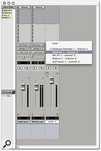 Pro Tools MIDI tracks automatically see instruments in the Rewire slave program.