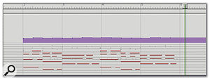 After you've tapped along with the MIDI performance, the data is automatically moved to bar two, beat one, and, as if by magic, everything aligns (give or take the odd sloppy tap!)