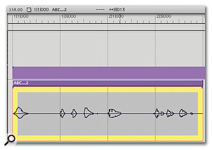 At last, the Adjust Soundbites to Sequence Tempo command is used to 'warp' the soundbite into its new rhythmic structure. This is a fast process on recent Macs, and can sound very good.