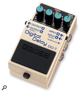 If you tend to send your guitar signal through a standard guitar effects pedal such as this Boss model while recording, there's no need for a DI box between the source and your recording system.