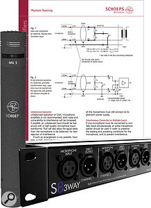 The Schoeps manual warns of the evils of passive mic splitters for a  good reason — but the ART S8 and similar single-split transformer devices shouldn't pose a  problem.