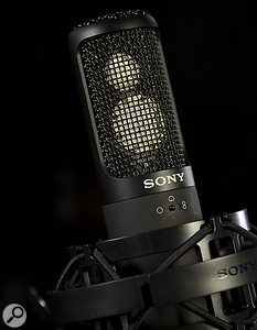 The dual-capsule, multi–pattern Sony C100 is one of many great mic options for recording acoustic instruments.