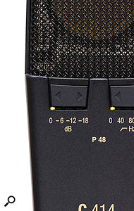 It's possible for a capacitor mic to overload when used close to a loud drum, and for a mic to output too hot a signal for some mic preamps — which is why many such mics feature switchable 'pads', or attenuators.