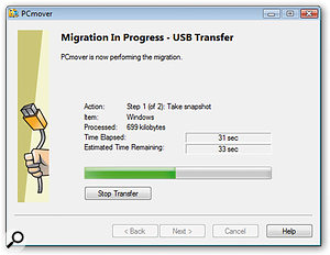 Laplink's PC Mover software enables the user to transfer all applications and related files of a hard drive from one computer to another over a number of protocols, but does not allow you to specify which files you send.