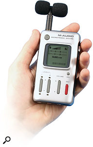 M-Audio's Microtrack is one of a number of portable devices that record to MP3 and PCM audio formats.