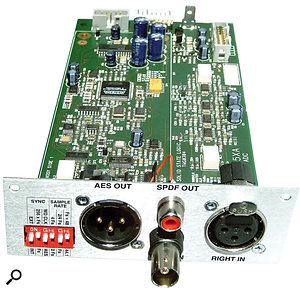 When converting an analogue signal to digital, a channel strip's own digital output board, such as the optional ADC card for SSL's XLogic channel, will often give better results than a computer soundcard.